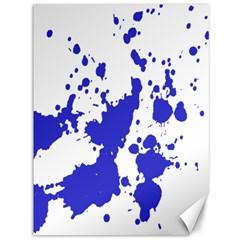 Blue Plaint Splatter Canvas 36  X 48   by Mariart