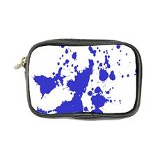Blue Plaint Splatter Coin Purse by Mariart