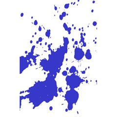 Blue Plaint Splatter 5 5  X 8 5  Notebooks by Mariart