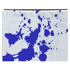 Blue Plaint Splatter Cosmetic Bag (xxxl)  by Mariart