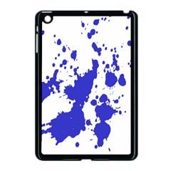 Blue Plaint Splatter Apple Ipad Mini Case (black) by Mariart