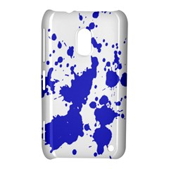 Blue Plaint Splatter Nokia Lumia 620 by Mariart