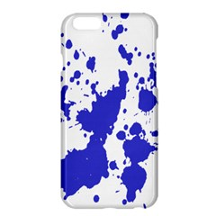Blue Plaint Splatter Apple Iphone 6 Plus/6s Plus Hardshell Case by Mariart