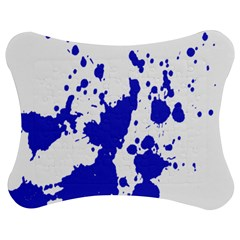 Blue Plaint Splatter Jigsaw Puzzle Photo Stand (bow) by Mariart