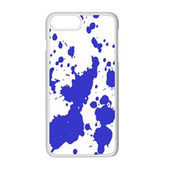 Blue Plaint Splatter Apple Iphone 8 Plus Seamless Case (white) by Mariart