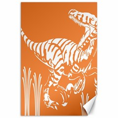 Animals Dinosaur Ancient Times Canvas 24  X 36  by Mariart