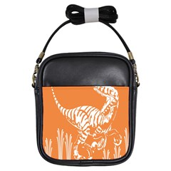 Animals Dinosaur Ancient Times Girls Sling Bags by Mariart