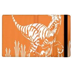Animals Dinosaur Ancient Times Apple Ipad 2 Flip Case by Mariart