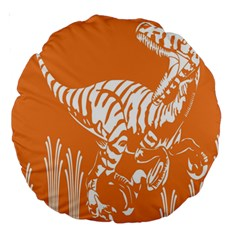 Animals Dinosaur Ancient Times Large 18  Premium Round Cushions by Mariart