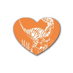 Animals Dinosaur Ancient Times Heart Coaster (4 Pack)
