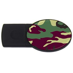 Camuflage Flag Green Purple Grey Usb Flash Drive Oval (2 Gb)