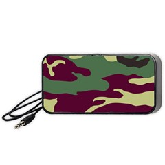Camuflage Flag Green Purple Grey Portable Speaker by Mariart