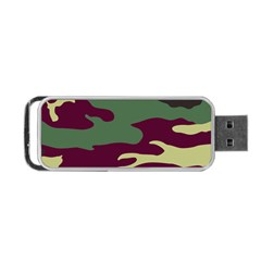 Camuflage Flag Green Purple Grey Portable Usb Flash (two Sides) by Mariart