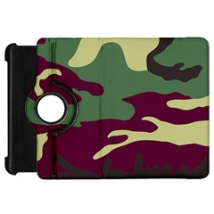 Camuflage Flag Green Purple Grey Kindle Fire Hd 7  by Mariart