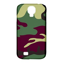 Camuflage Flag Green Purple Grey Samsung Galaxy S4 Classic Hardshell Case (pc+silicone) by Mariart