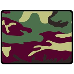 Camuflage Flag Green Purple Grey Double Sided Fleece Blanket (large)  by Mariart
