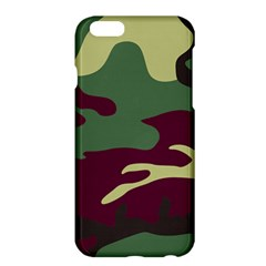 Camuflage Flag Green Purple Grey Apple Iphone 6 Plus/6s Plus Hardshell Case by Mariart
