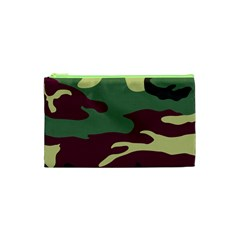 Camuflage Flag Green Purple Grey Cosmetic Bag (xs) by Mariart