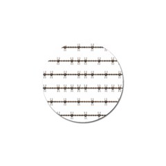 Barbed Wire Brown Golf Ball Marker (4 Pack) by Mariart
