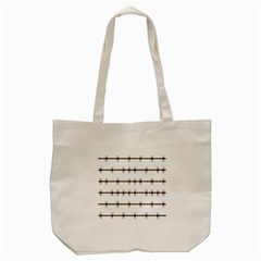 Barbed Wire Brown Tote Bag (cream) by Mariart