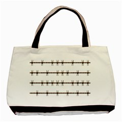 Barbed Wire Brown Basic Tote Bag by Mariart