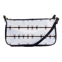 Barbed Wire Brown Shoulder Clutch Bags by Mariart