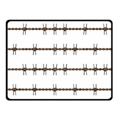 Barbed Wire Brown Fleece Blanket (small) by Mariart