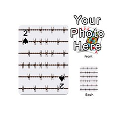 Barbed Wire Brown Playing Cards 54 (mini)  by Mariart