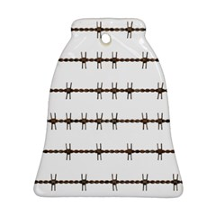 Barbed Wire Brown Ornament (bell) by Mariart