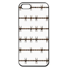 Barbed Wire Brown Apple Iphone 5 Seamless Case (black) by Mariart