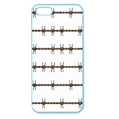 Barbed Wire Brown Apple Seamless Iphone 5 Case (color) by Mariart