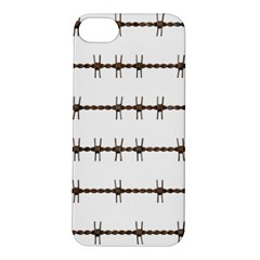 Barbed Wire Brown Apple Iphone 5s/ Se Hardshell Case by Mariart