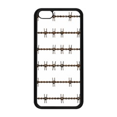 Barbed Wire Brown Apple Iphone 5c Seamless Case (black) by Mariart