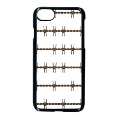 Barbed Wire Brown Apple Iphone 7 Seamless Case (black) by Mariart