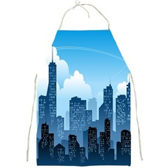 City Building Blue Sky Full Print Aprons by Mariart