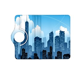 City Building Blue Sky Kindle Fire Hd (2013) Flip 360 Case by Mariart