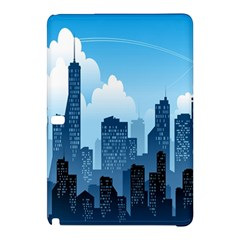 City Building Blue Sky Samsung Galaxy Tab Pro 10 1 Hardshell Case by Mariart