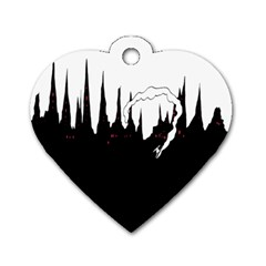 City History Speedrunning Dog Tag Heart (one Side) by Mariart