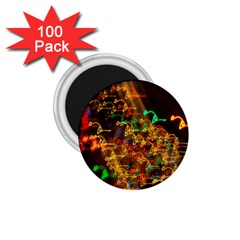 Christmas Tree Light Color Night 1 75  Magnets (100 Pack)  by Mariart
