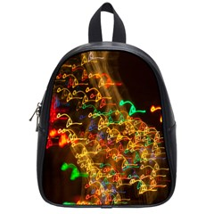 Christmas Tree Light Color Night School Bag (small) by Mariart
