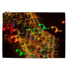 Christmas Tree Light Color Night Cosmetic Bag (xxl)  by Mariart