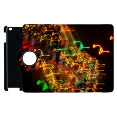 Christmas Tree Light Color Night Apple Ipad 2 Flip 360 Case by Mariart