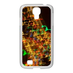 Christmas Tree Light Color Night Samsung Galaxy S4 I9500/ I9505 Case (white) by Mariart
