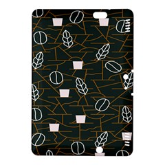 Espresso Cofee Glass Line Chevron Kindle Fire Hdx 8 9  Hardshell Case by Mariart