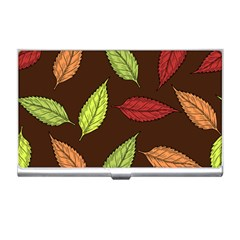 Autumn Leaves Pattern Business Card Holders by Mariart