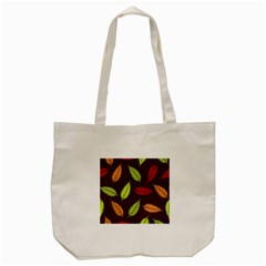 Autumn Leaves Pattern Tote Bag (cream) by Mariart