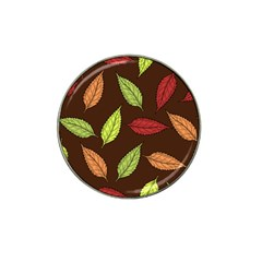 Autumn Leaves Pattern Hat Clip Ball Marker (10 Pack) by Mariart