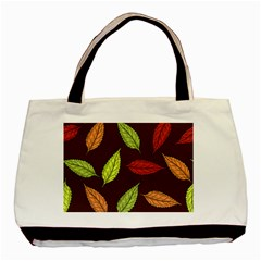 Autumn Leaves Pattern Basic Tote Bag by Mariart