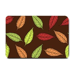 Autumn Leaves Pattern Small Doormat  by Mariart
