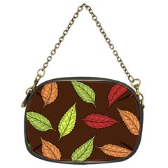 Autumn Leaves Pattern Chain Purses (one Side)  by Mariart